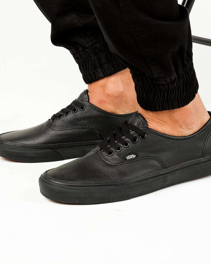 Vans Authentic Blk/Blk Leather