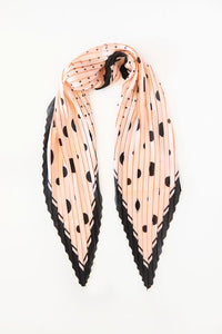 Antler NZ Pleated Scarf - Pink/Black/Multi Spot