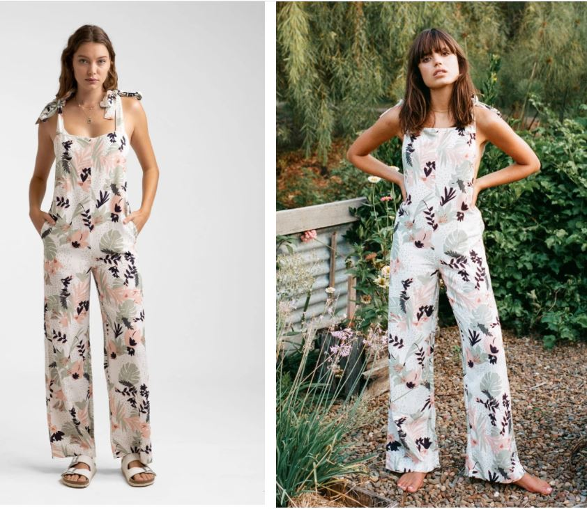 Rhythm - Santa Barbara Tie Up Jumpsuit White