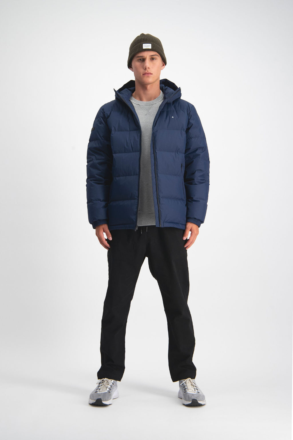 Huffer Mens Ripstop Down Jacket Navy