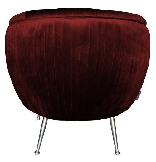 Rembrandt Zephyr Occassional Chair Red Blood Velvet