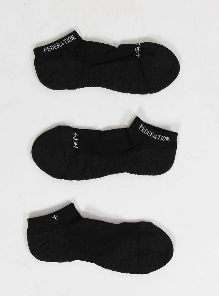 Federation Ankle Socks - Black