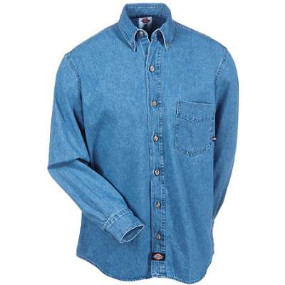 Dickies Long Sleeve Denim Work Shirt