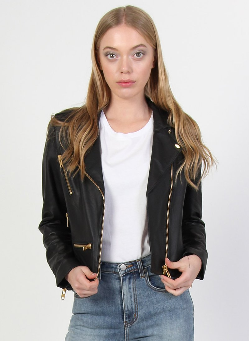 Federation Leather Jacket Gold