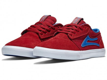 Lakai Kids Griffin Shoes Red/Blue Suede