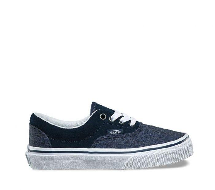 Vans Kids Era Suede and Suiting Dress Blue