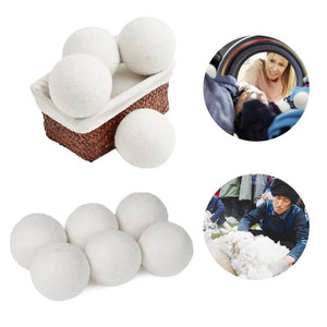 10Pcs/pack Premium Organic Wool Dryer Balls Laundry Clean Ball Reusable Natural Organic Laundry Fabric Softener Ball