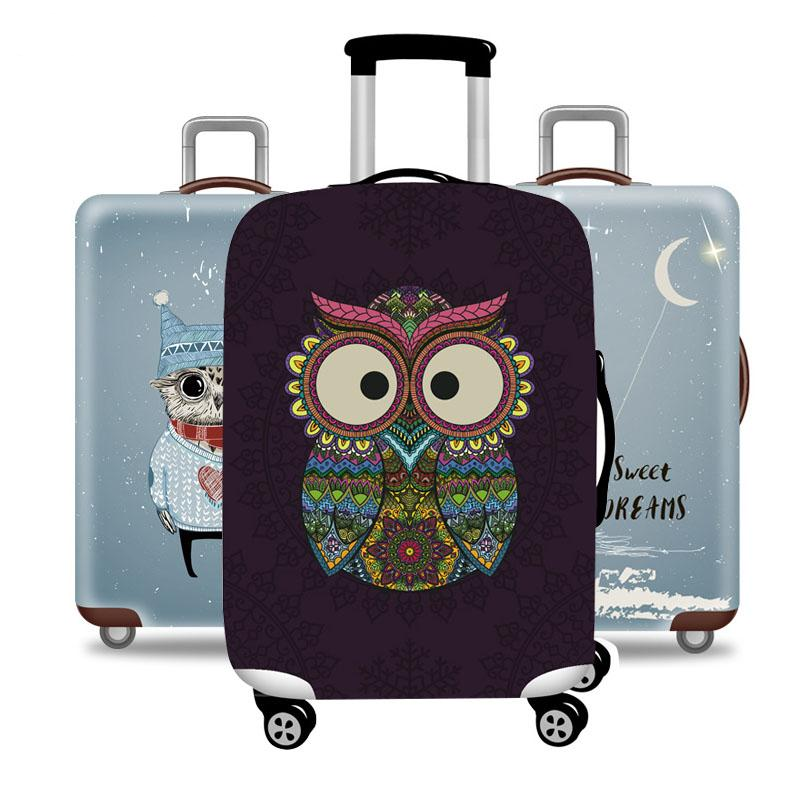 Owl And Friends Luggage Protective Cover