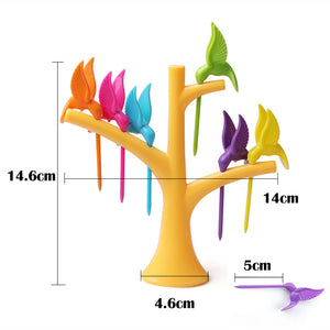 Bird Tree Fruit Fork (1 Stand+6 Forks)