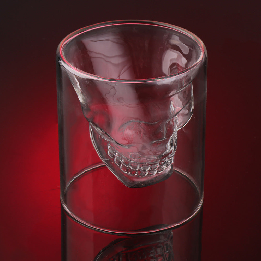 Crystal Skull Head Shot Glass
