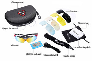 Cycling Glasses With 5 Interchangeable Len