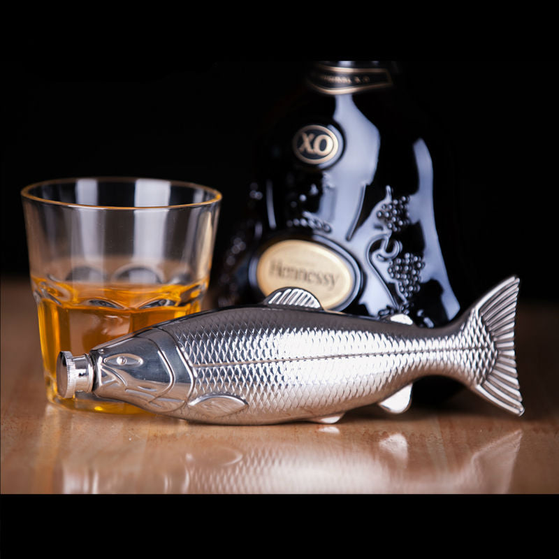 Stainless Steel Fish Shape 4 oz Hip Flask