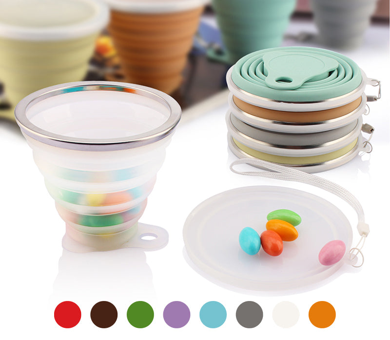 Stainless Steel Silicone Folding Cup