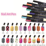 8 PCS Nail Art Pen Set
