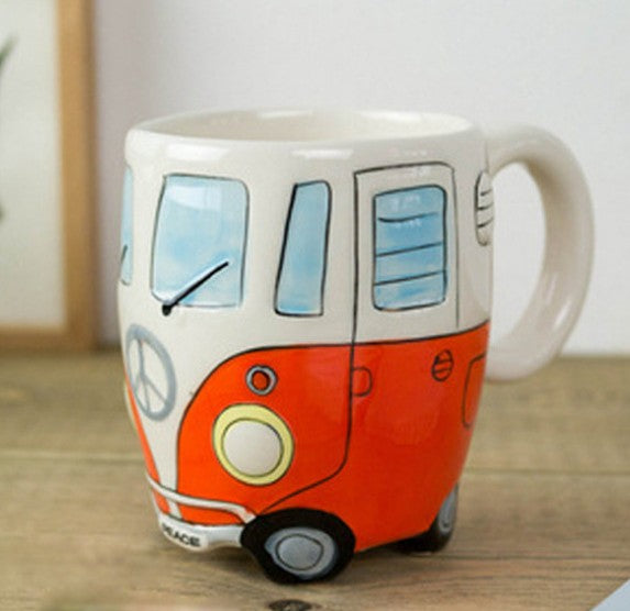 Retro VW Microbus Coffee Mugs