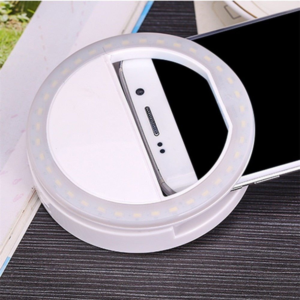 Portable Ring Selfie Flashlight