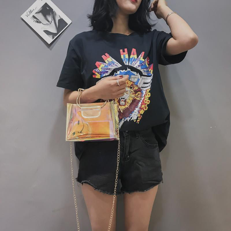 Hologram Tote Bag with Cat Handle