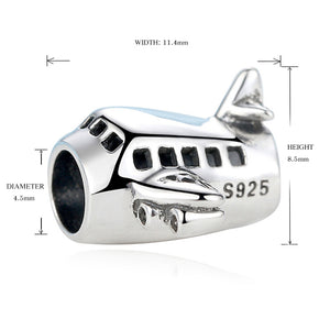 Sterling Silver Air Plane Charm