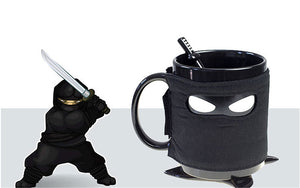 Ninja Coffee Mug (With Spoon Sword And Shuriken)