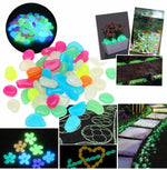 50pcs Glow In The Dark Pebbles