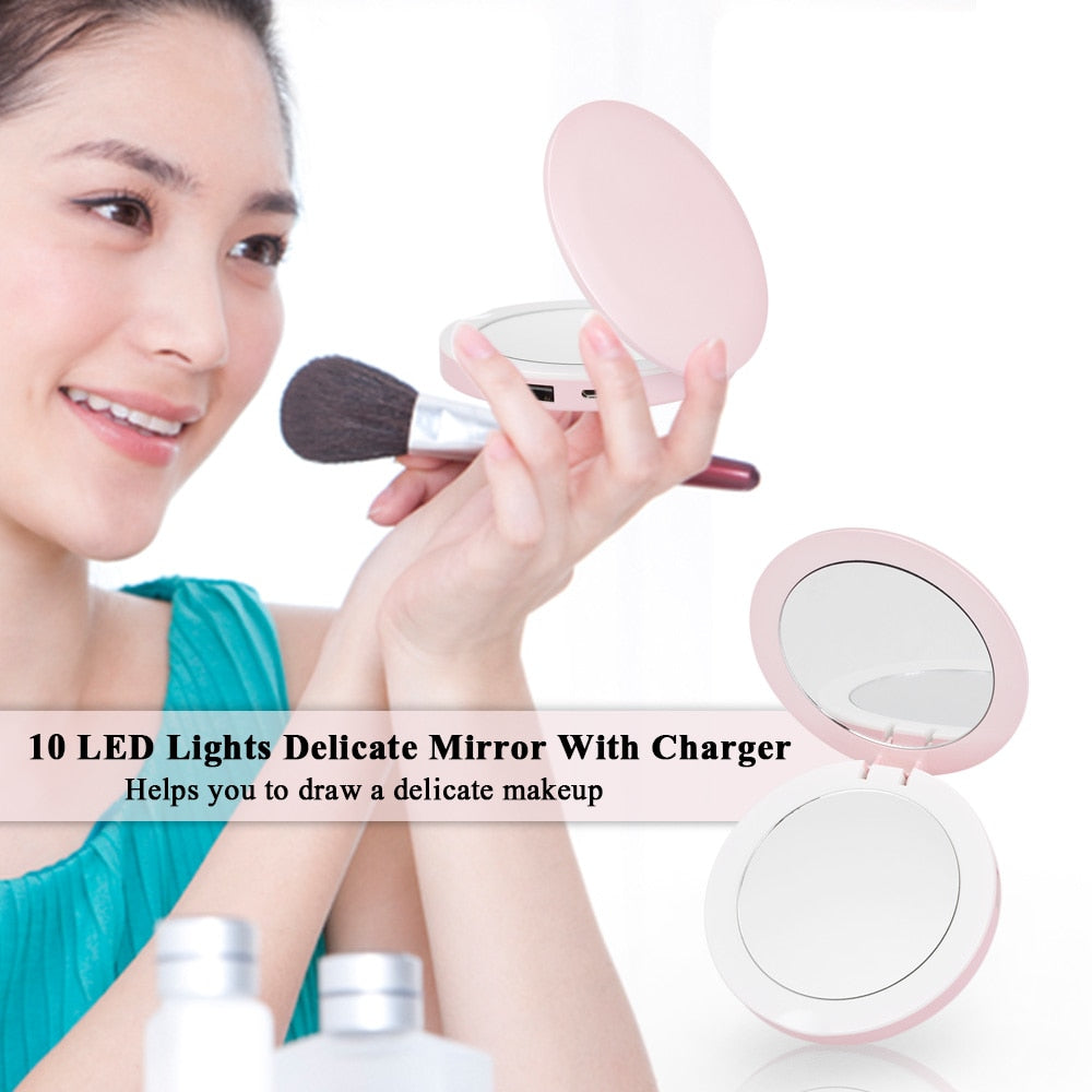 Pocket Lighted Makeup Mirror