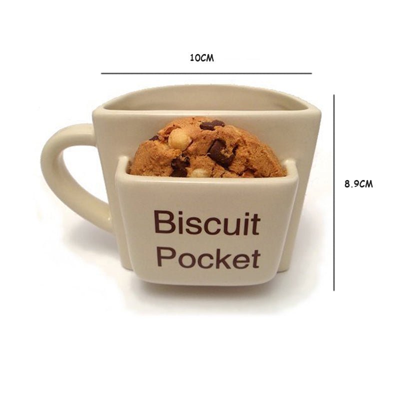 Coffee Mug With Biscuit Pocket