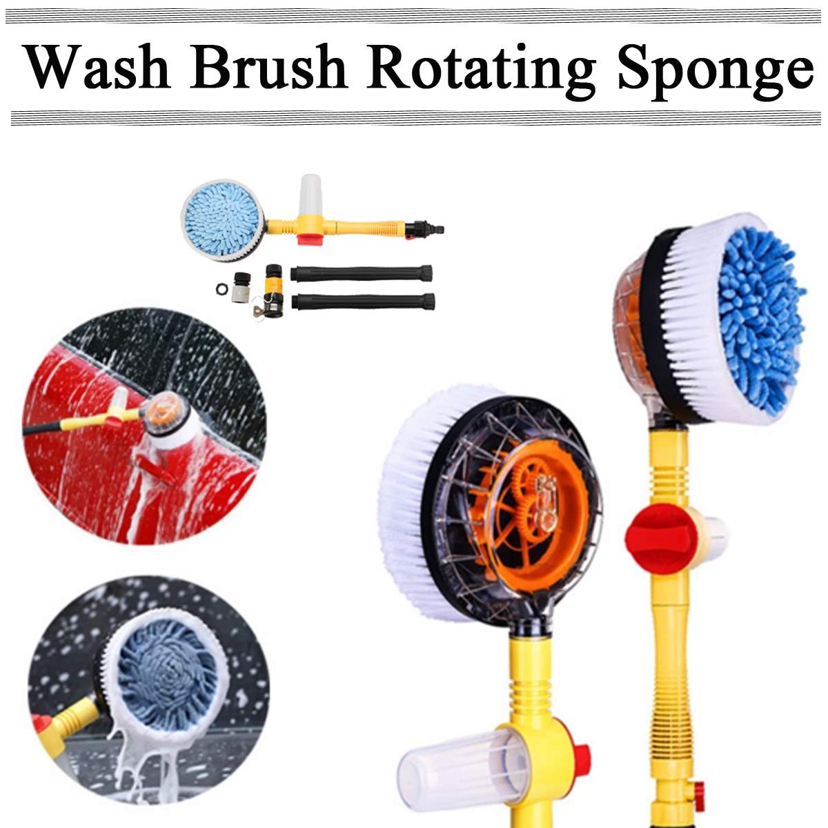 Auto-Rotating Cleaning Brush