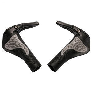 Ergonomic Bicycle Handlebars Rubber Grips With Aluminum Bar-end