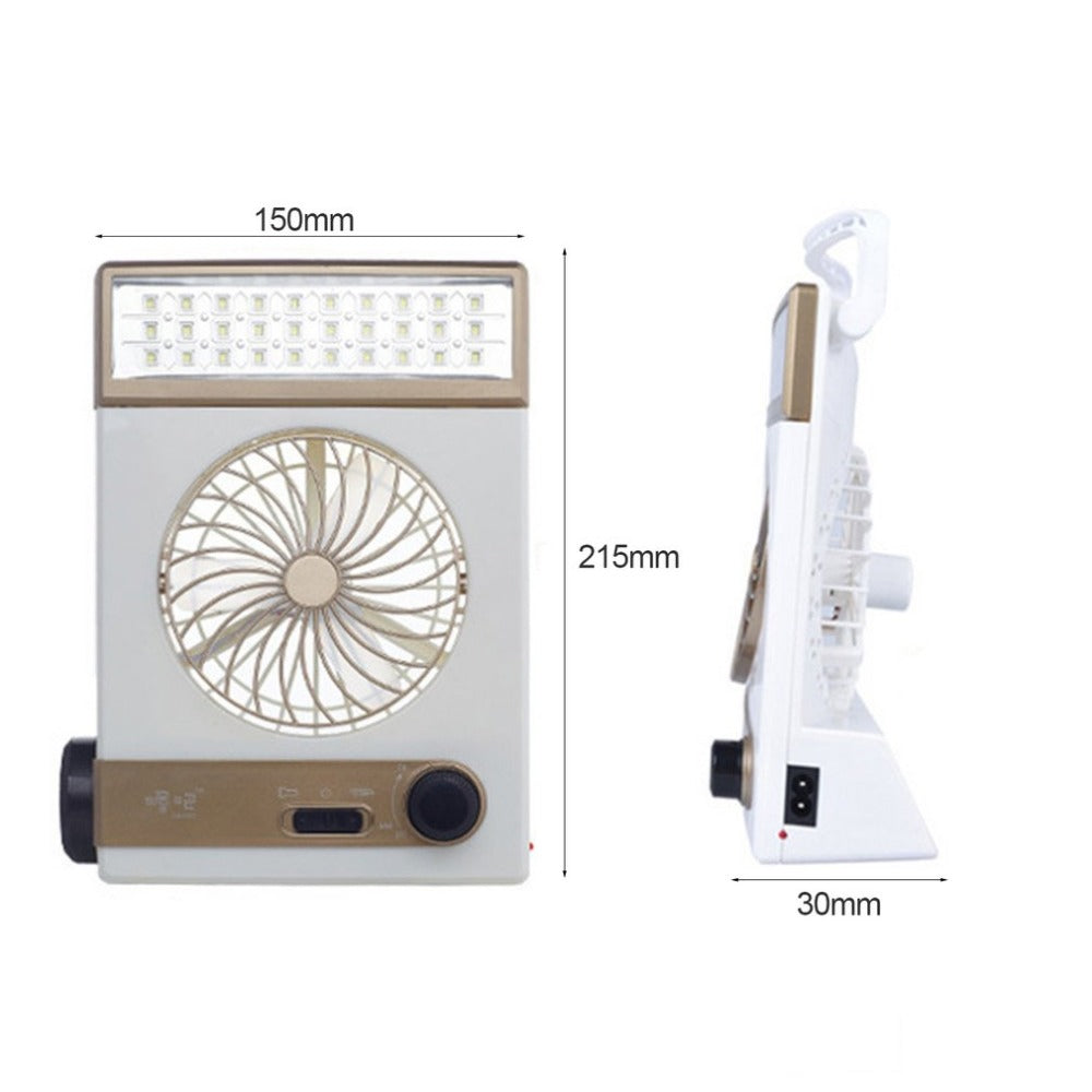 4 In 1 Multifunctional Rechargeable LED Solar Light Fan Table Lamp Emergency And Flashlight