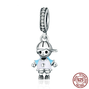 Sterling Silver Couple Charm (Little Boy)