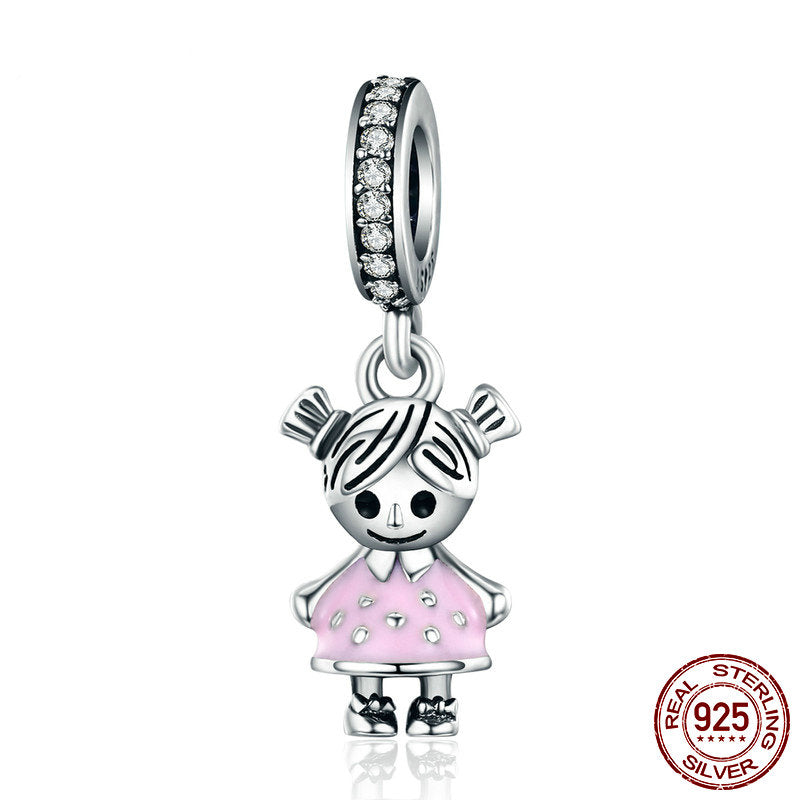 Sterling Silver Couple Charm (Little Girl)