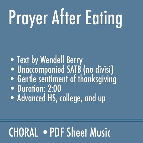 Prayer After Eating
