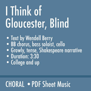 I Think of Gloucester, Blind