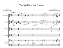 Load image into Gallery viewer, The Seed is in the Ground (unaccompanied SATB, divisi)