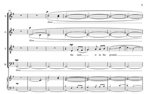 The Seed is in the Ground (unaccompanied SATB, divisi)