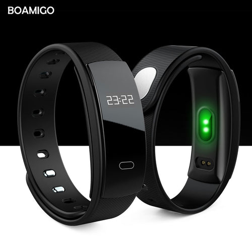 BOAMIGO smart watches bluetooth Smart Bracelet Wristband Heart Rate message Reminder Sleep Monitoring for IOS Android phone