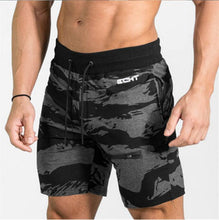 2017 Mens Fitness Bodybuilding camouflage Brand Zipper Patchwork Sweatpants gyms  men Summer Fashion leisure Joggers Shorts
