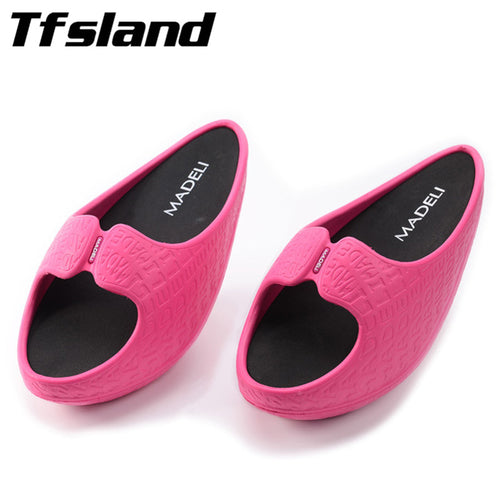 Women Fitness Weight Loss Massage Slippers Drag Wedges Platform Swing Shoes Female Negative Heel Stovepipe Toning Shoes Sneakers