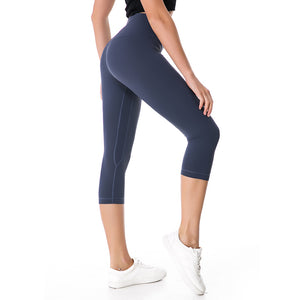 2018 NWT Eshtanga woman capris Top Quality Women Yoga High Elastic Waist Solid Skinny Stretch Leggings Size XXS-XL Free Shipping