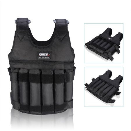 44 LB/ 20 KG Adjustable Weighted Vest Workout Exercise Boxing Training Waist Fitness (Sand And Steel Plate Are not included)