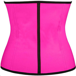 4 Colors S-6XL Latex Bustier Sexy Underbust Waist Cincher Rubber Corsets Body Shape Wear