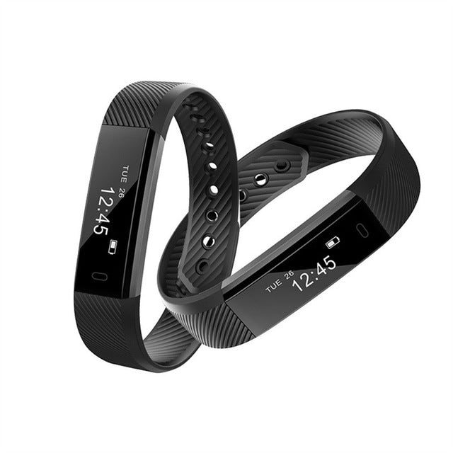 2017 Bluetooth Smart Watch Bracelet Wristband Pedometer Sport Fitness Tracker ID115 Drop Shipping Y7831