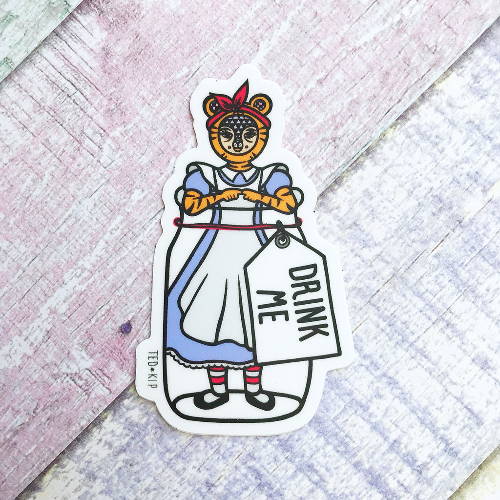 Alice In Wonderland Vinyl Sticker