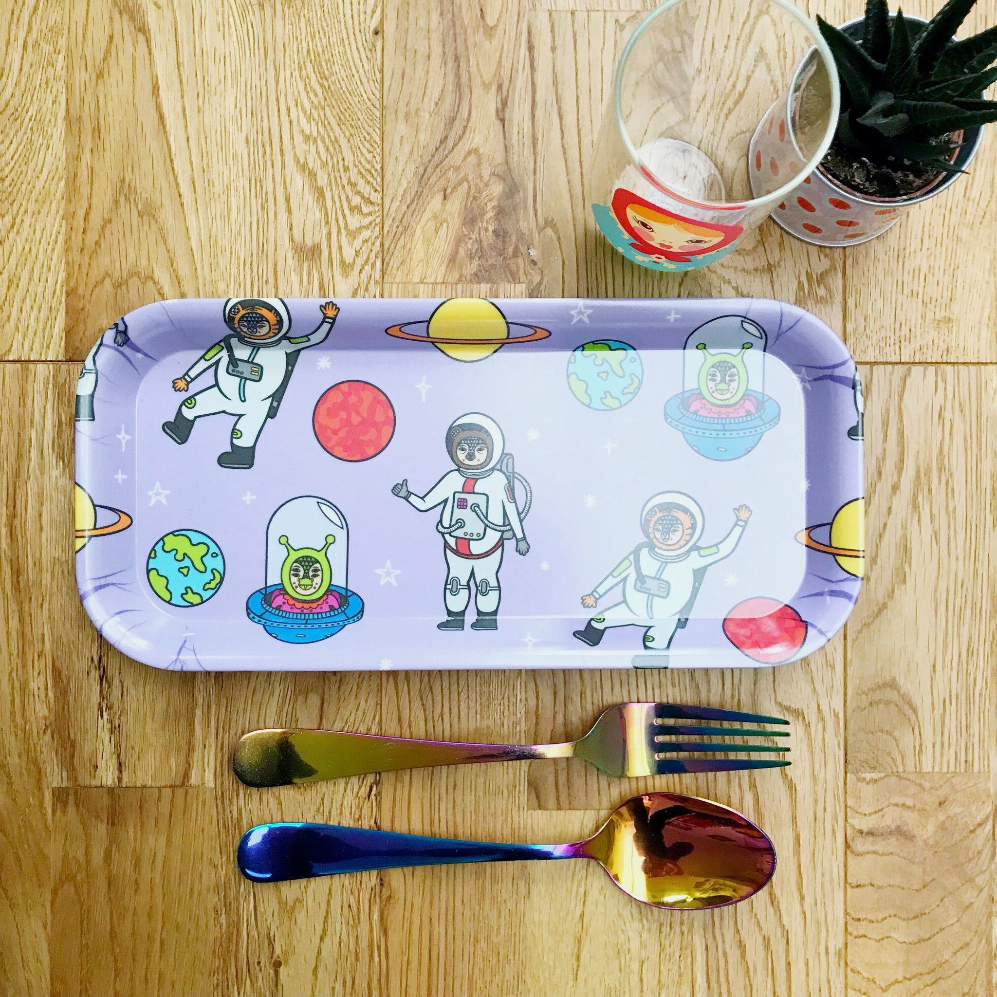 Space Melamine Tray