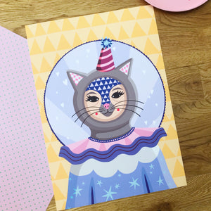 Whimsical Cat Print