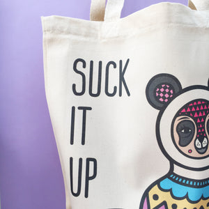 Suck It Up! Canvas Tote Bag