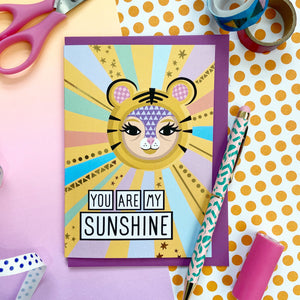 You Are My Sunshine Gold Foil Card