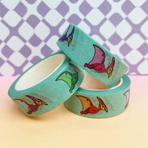 Mint Green Pterodactyl Washi Tape