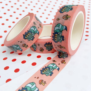 Coral Cheshire Cat Washi Tape