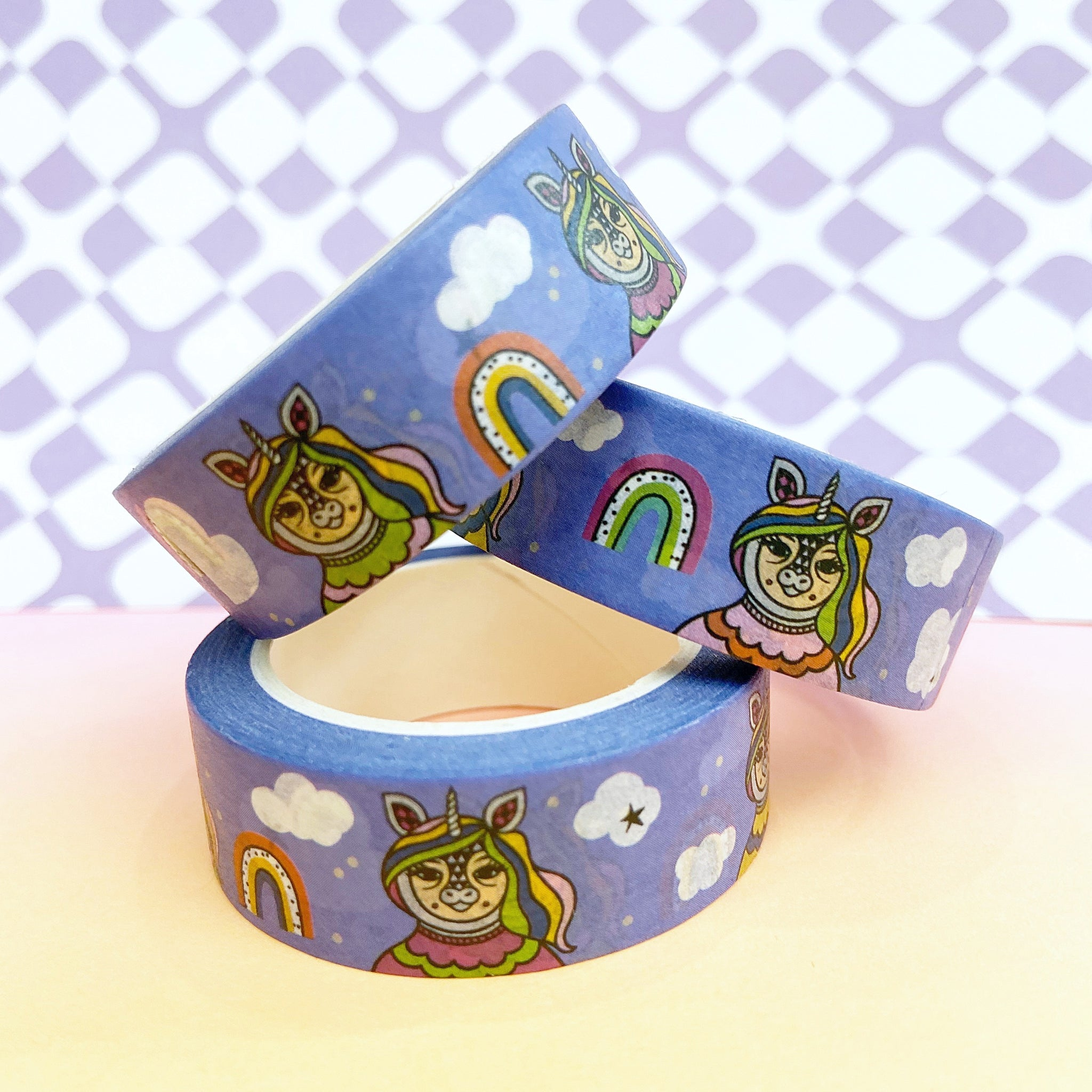 Blue Unicorn Washi Tape